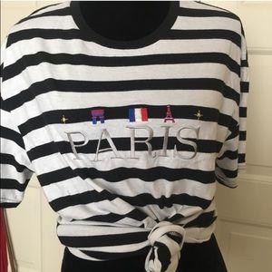 Pacsun stripped Paris T-shirt